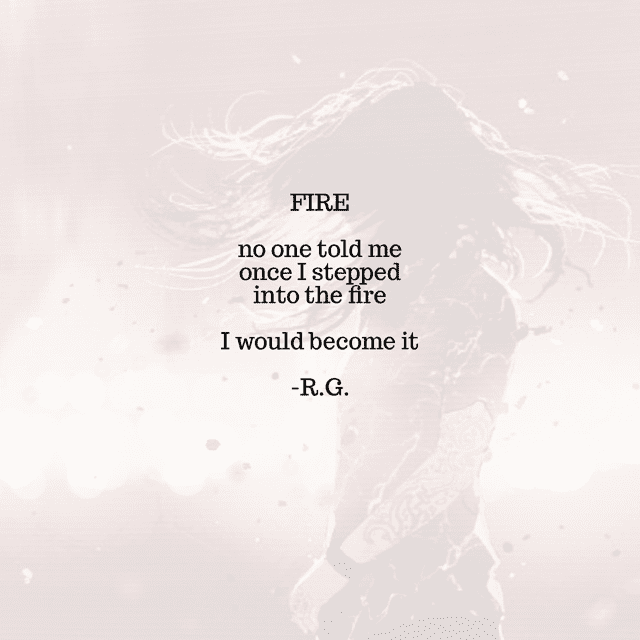 Rebel Girl Poem: Fire