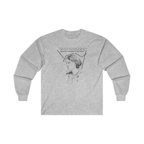 Virginia Woolf Feminist Long Sleeve Shirt by Witches Hit Back
