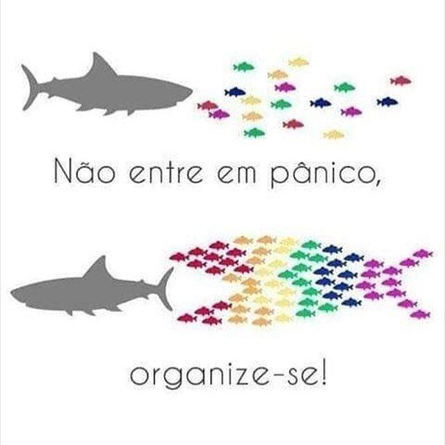 """Do not panic, organise!"""