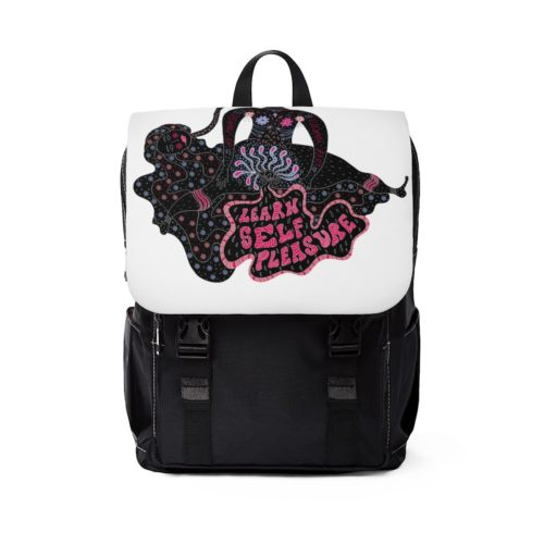 front view Learn Self Pleasure backpack