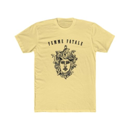 Yellow T-Shirt with a Medusa Illustration